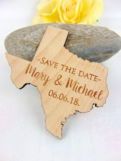 Inviting your guests for your wedding with a beautiful wooden engraved Save the Date magnet! This is a creative way to remind your guests of…