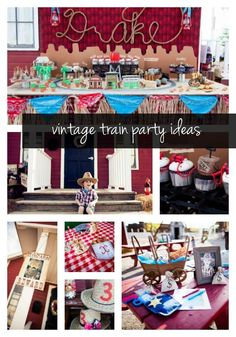 vintage train party ideas -- www.spaceshipsandlaserbeams.com
