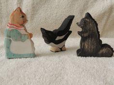 Beatrix Potter wooden character toys