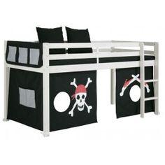 Jack halfhoogslaper met bureau ruimtebesparende jongens kinderbedden slaapkamer jay - Ruimtebesparende mezzanine ...