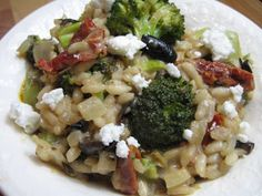 Burp! Recipes: Roasted Broccoli Risotto with Sundried Tomatoes and Olives