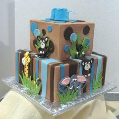 Baby Shower Safari Cake