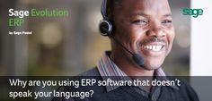 Does your software solution speak your language? Don't Speak, Sage, Evolution, Accounting, Software, Language, Shut Up, Salvia, Languages