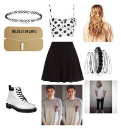 """Date w/ Sammy Wilkinson"" by aaliyahweathermon ❤ liked on Polyvore featuring Dr. Martens, Hershesons and Avenue"