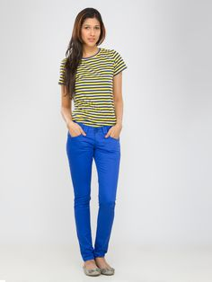 Neon Blue Jeans #JulepColorChallenge