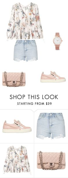 """""""Sin título #34"""" by mvmarien ❤ liked on Polyvore featuring Giuseppe Zanotti, Topshop, Rebecca Taylor, Chanel and Larsson & Jennings"""
