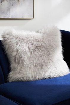 Buy Arctic Cosy Faux Fur Cushion from the Next UK online shop – Sofa Design 2020 Shaggy Cushions, Fluffy Cushions, Large Cushions, Large Sofa, Scatter Cushions, Cushions On Sofa, Plain Cushions, Check Curtains, Art Deco Print