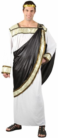 fc13fcdc57 Greek God Roman Emperor Men s Fancy Dress Grecian Adult Toga Outfit Costume  New