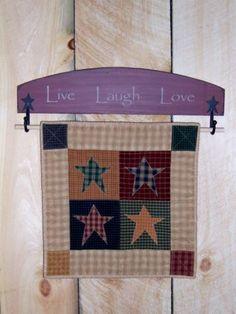 Wooden Quilt Block Hanger