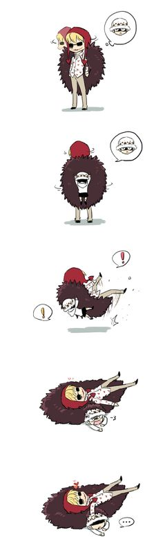 Law? - Trafalgar D. Water Law and Donquixote Rocinante (Corazon) (Corasan, Cora-san) One Piece