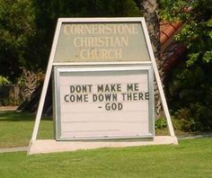 REAL church signs from all across America!