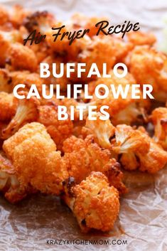Air Fryer Buffalo Cauliflower Bites are a super healthy way to get the bold flavors of buffalo sauce without the guilt. Air Fryer Buffalo Cauliflower Bites are a super healthy way to get the bold flavors of buffalo sauce without the guilt. Air Fryer Recipes Snacks, Air Fryer Recipes Breakfast, Air Frier Recipes, Air Fryer Dinner Recipes, Air Fryer Recipes Low Carb, Snacks Dishes, Recipes Dinner, Buffalo Cauliflower Bites, Recipes