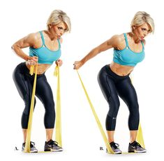 Resistance Band Exercises for Total-Body Workout, Exercise Motivation Tips Do this sculpting routine literally anywhere. Resistance Workout, Resistance Band Exercises, Stretch Band Exercises, Fitness Motivation, Fitness Tips, Exercise Motivation, Fitness Memes, Fitness Journal, Pilates Band