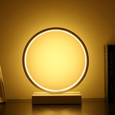 Moderná LED stolová lampa KRUH v zlatej farbe Led Lamp, Lamp Light, Table Lamp, Mirror, Retro, Lighting, Bedroom Table, Bedside, Eye