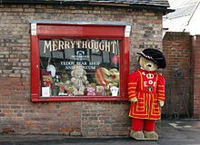 Merrythought is a toy manufacturing company established in 1930 in the United Kingdom. The company specialises in soft toys, especially teddy bears. It is the last remaining British teddy bear factory and is located at Ironbridge in Shropshire.