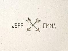 Arrow Wedding  Stamp  Name. Hipster. Modern. by HairpinPress, $30.00