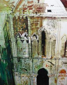 Art pictures-Artist John Piper John Piper Artist, Identity Art, Building Art, A Level Art, Architectural Features, Gcse Art, Urban Sketching, Landscape Paintings, Landscapes