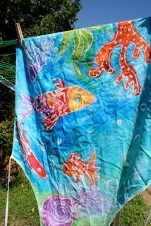 tutorial for batik art on fabric with elmer's gel glue