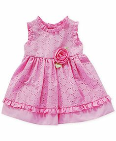 Sweet Heart Rose Baby Girls' Ruffle-Trim Eyelet Dress - Kids - Macy's