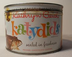 I LOVED Katydids! We sold this candy when I was in grade school It was actually quite good!  1960s Candy Tin
