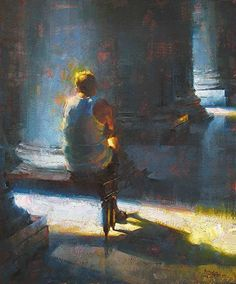 Reverence by Jennifer McChristian (Montreal born and raised)  Oil ~ 18 x 15