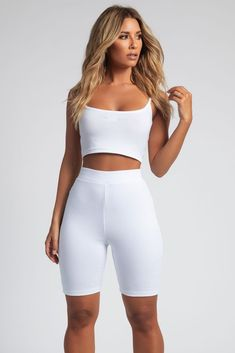 5cc6bd9343a35 Dana Reversible Crop Singlet Strappy Top - White - MESHKI Strap Heels,  Leggings, Crop