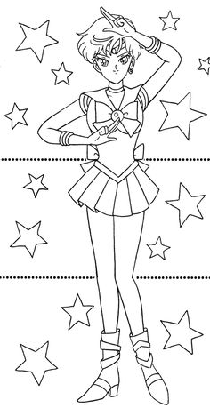 Sailor Neptune Coloring Pages