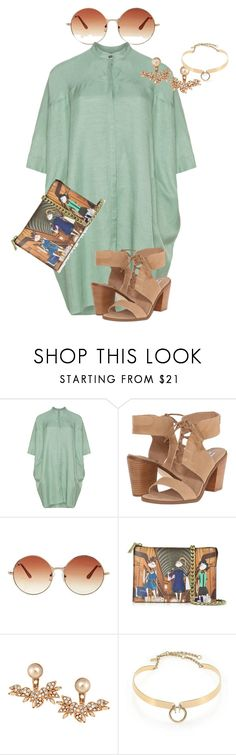 """""""plus size ultra summer chic"""" by kristie-payne ❤ liked on Polyvore featuring Steve Madden, Topshop, Love Moschino, Joanna Laura Constantine and Alexis Bittar"""