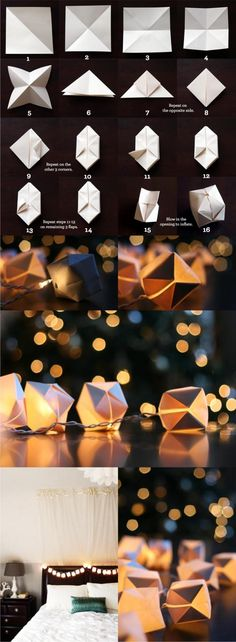 Guirnaldas decorativas con origami - witandwhistle.com