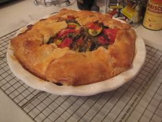 cherry tomato, mozzarella  zucchini pie yum yummy Pinterest