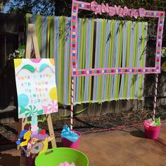 """Candyland photo booth by Pure Perfection Party Planners"""