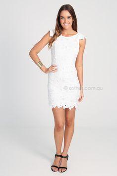 1913e2ea26 penny lace dress - white
