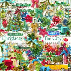 A huge set of Christmas themed embellishments designed to coordinate with the Christmas In The City collection from Raspberry Road.