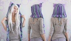 Purple Haze kitty hood! by Archaical.deviantart.com on @DeviantArt