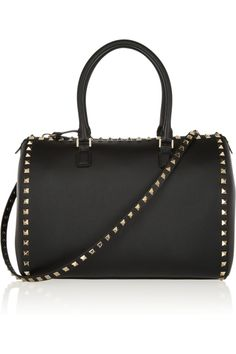 Valentino | The Rockstud leather duffle bag