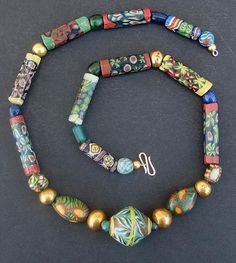 Egyptian/Roman necklace, acq. 1906 Egypt, Exhibited museums: Met NY 1920, Boston 1945, MoM CA 1968.