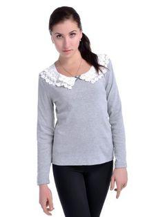 Anna-Kaci S/M Fit Grey Sublime Essence Of Life Floral Laced Long Sleeve Shirt Anna-Kaci. $25.90