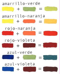How to combine colors - Complete Guide + Explanatory Video - What Color - lapices Mixing Paint Colors, Color Mixing Guide, Color Mixing Chart, Colour Schemes, Color Combinations, Color Terciario, Sitting Buddha, Watercolor Mixing, Diy Vetement