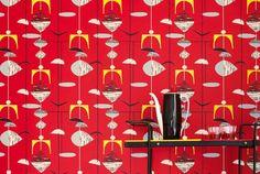 Sanderson Mobiles Wallpaper, based on original 1950 design