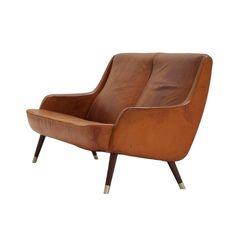 Fritz Hansen Cognac leather sofa