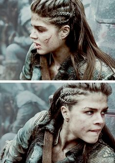 The 100 octavia hair tutorial White Girl Cornrows, Cornrows For Girls, Cornrows Braids White, Braided Hairstyles, Cool Hairstyles, Viking Hairstyles, The 100, Viking Braids, Marie Avgeropoulos