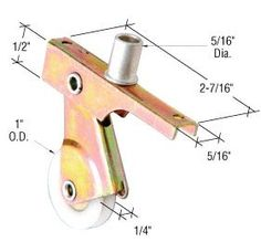 """CRL 1"""" Nylon Center Groove Sliding Screen Door Bottom Roller with Top Adjustment Screw for Bay-Mill Doors - Package by CRL. $9.00. C.R. LAURENCE B701 CRL 1"""" Nylon Center Groove Sliding Screen Door Roller With Top Adjustment Screw for Bay-Mill Doors. This CRL Sliding Screen Door Roller has a 5/16"""" (7.9 mm) wide, spring loaded housing with a center grooved nylon wheel and top adjusting screw. It fits on sliding screen doors by Bay-Mills and other manufacturers. Two rollers p..."""