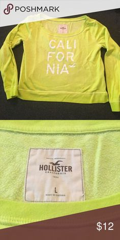 Holister Large Crewneck sweatshirt Large Hollister woman's top. Pre-owned. No stains, tears or flaws Hollister Tops Sweatshirts & Hoodies