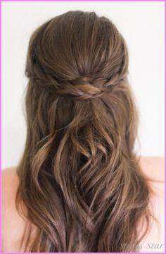cool Bridesmaid hairstyles half up half down