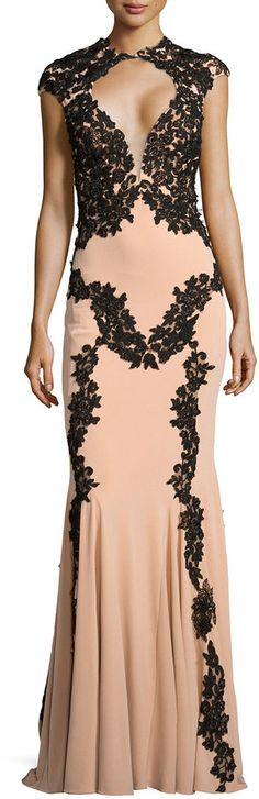 http://www.shopstyle.com/action/loadRetailerProductPage?id=467766794&pid=uid8836-30730094-40   Jovani Illusion-Bust Lace-Trim Gown