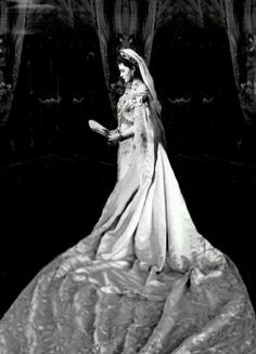"Full length version of the Grand Duchess Elisabeth Feodorovna Romanova of Russia in court dress.  ""AL"""