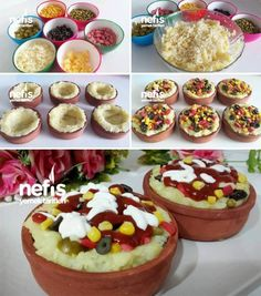 How to make a practical Baked Potato Recipe in Casserole? people are - Videolu Tarif - Leziz Yemek Tarifleri - Videolu Yemek Tarifleri - Pratik Yemek Tarifleri Baked Potato Casserole, Baked Potato Recipes, Baked Potatoes, Lunch Recipes, Sweet Recipes, Cake Recipes, Turkish Recipes, Italian Recipes, Turkish Sweets
