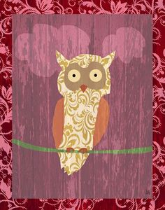 Love these collage owls! #nursery #owl