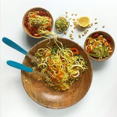 Time for some happy yummy things! Check out a new Raw Zucchini Noodles recipe  #nilo #blog #food #raw @My_Recipes @recipes #recipe #cook #make #salad #taste #prepare #try #yumm  #yumminess #fresh #summer @diet #recipeoftheday #imageiftheday #delicious #follow  #like #life #lifestyle #wood #bowl #lunch #dinner #serve #decorate #pretty