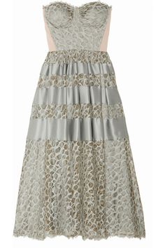 Temperley London | Satin-trimmed lace dress | NET-A-PORTER.COM